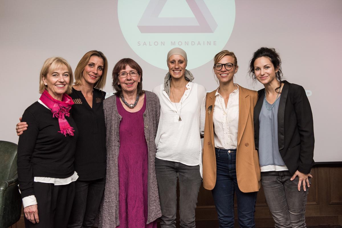 l.n.r.: Iris von Tiedemann, Nina B. Fischer, Margret Rasfeld, Yasmine Orth, Isabel Dziobek, Siri Svegler