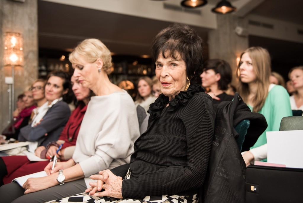 Im Publikum die wundervolle Marie-Luise Schwarz-Schilling (Sprecherin im Salon Mondaine #9 Inspiration of Generations)
